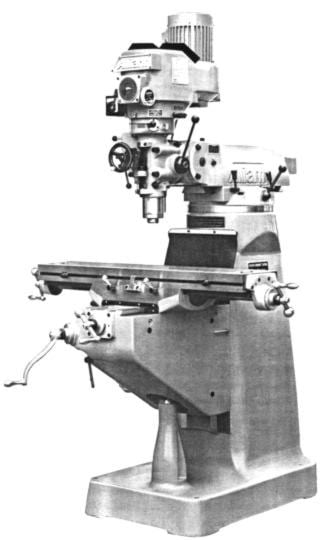 ALLIANT Vertical Milling Machine RT-2S RT-2TV Operator /& Parts Manual 0006