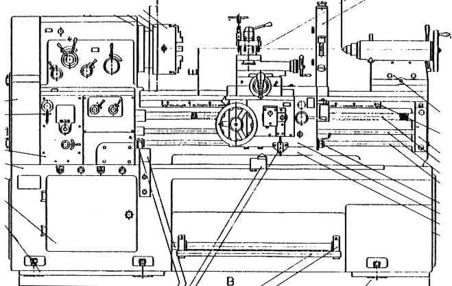 metal lathe diagram