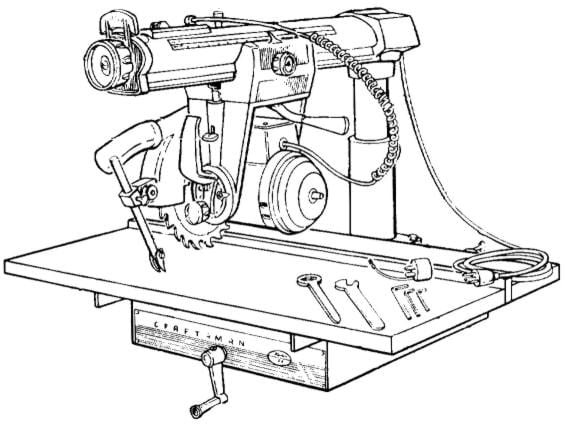 Craftsman 10 Radial Arm Saw 113 29440 Operator Parts Manual