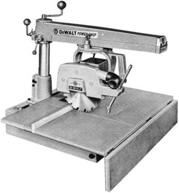 DEWALT 925 Radial Arm Saw Instructions & Part Manual | Ozark Tool Manuals & Books