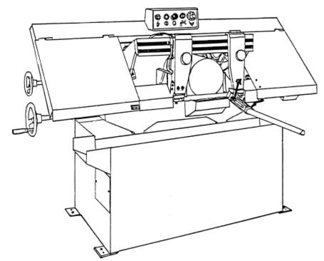 Jet Asian Hbs 9m Horizontal Band Saw Instructions Parts Manual