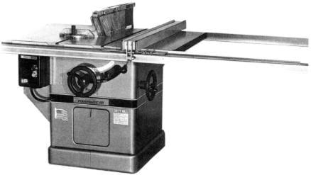 Powermatic 72a Table Saw Operator Parts Manual Ozark