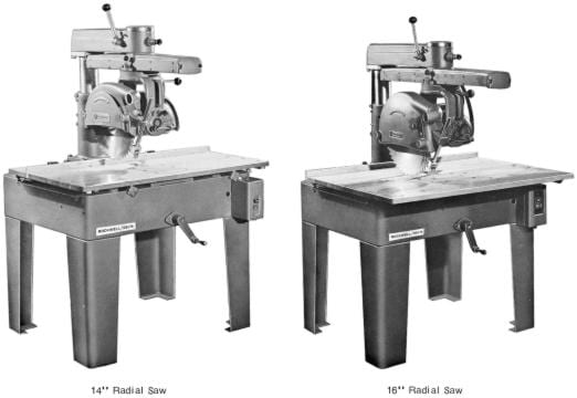 rockwell 14 quot 16 quot radial arm saw parts manual ozark tool manuals books