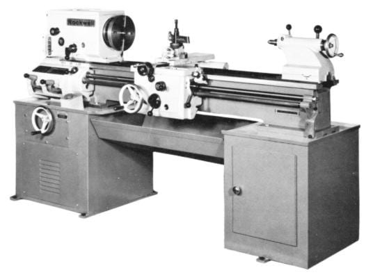 Rockwell 14 Quot Cabinet Lathe Older Operating Parts Manual