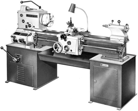 Rockwell 14 Quot Cabinet Metal Lathe Operating Parts Manual