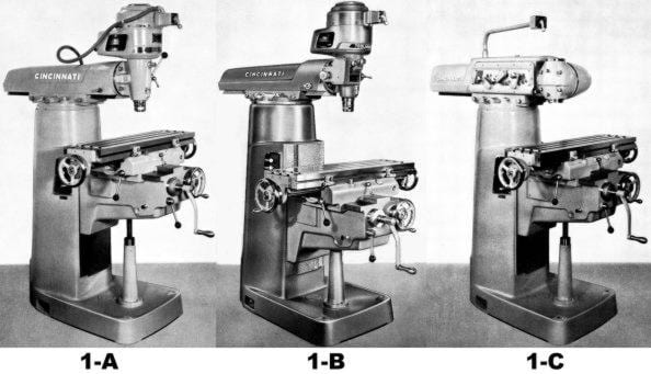 Cincinnati Toolmaster Milling Machine 1a  1b  1c Operator