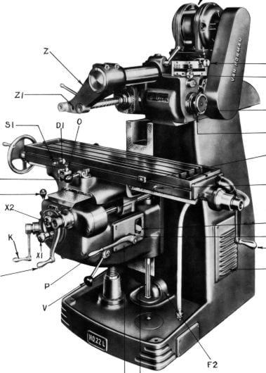 Manual Milling Machine : Van norman l lu p pu ram type universal milling