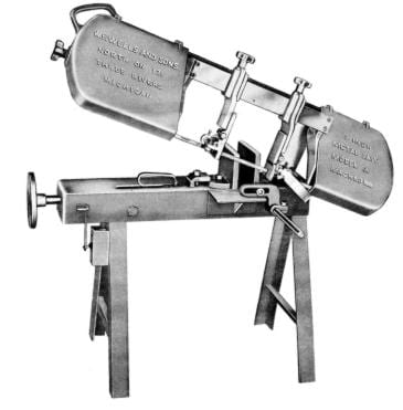 W.F. Wells and Sons Model A 6 inch Horizontal Metal Cutting Band Saw