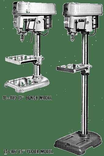 bench top vs floor standing drill presses | ozark tool manuals & books
