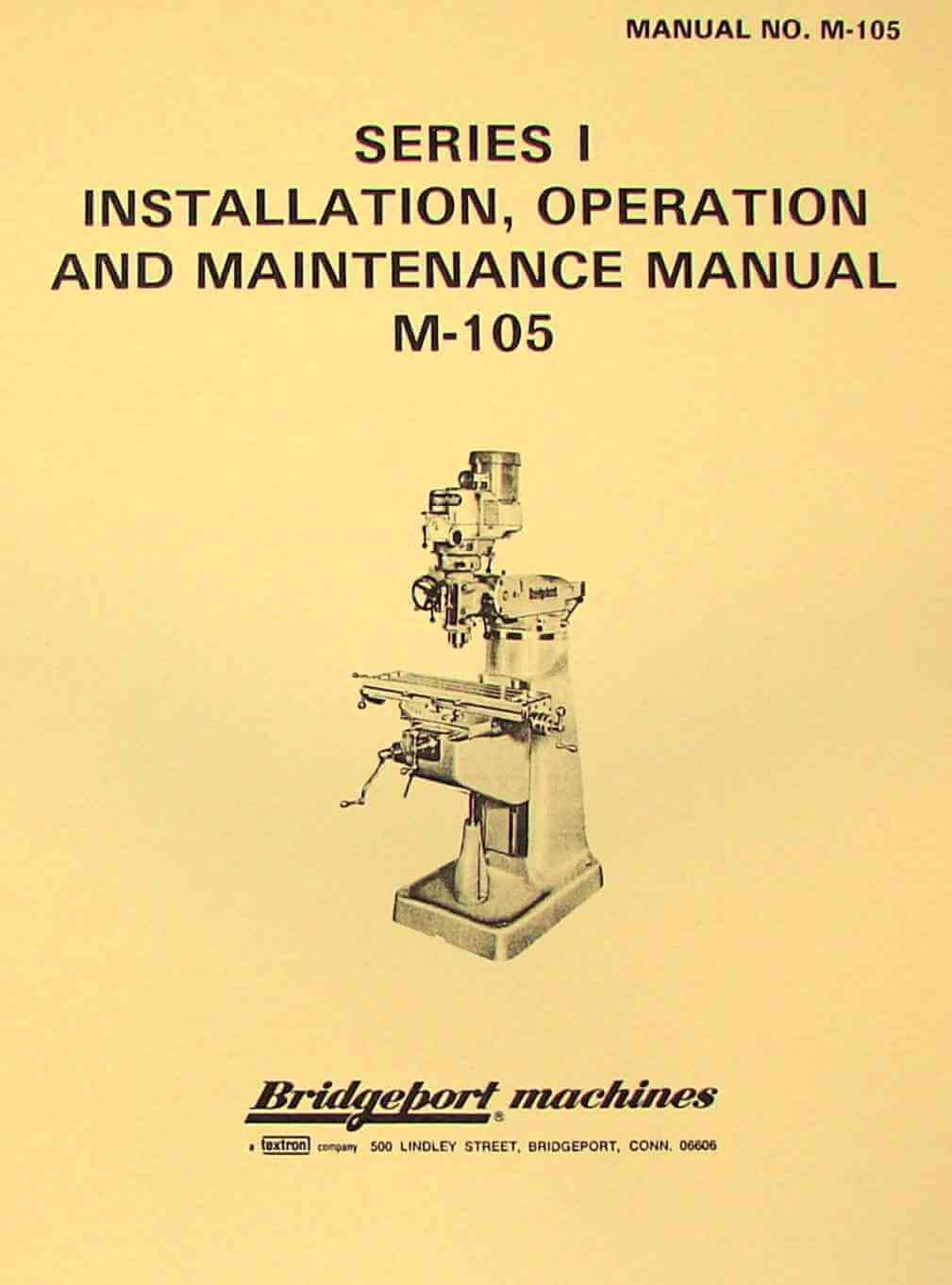 bridgeport milling machine manual pdf