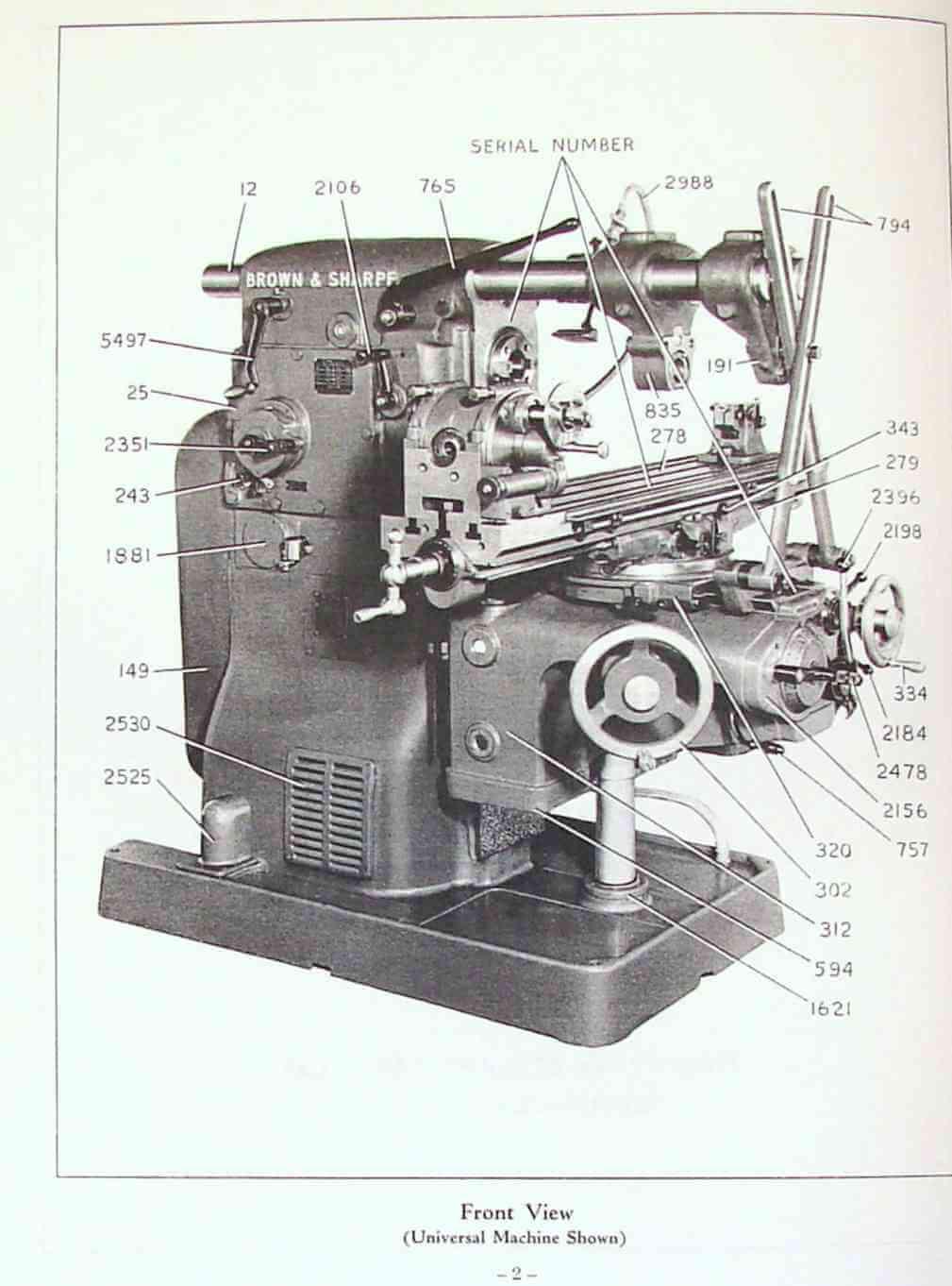 milling machine parts pdf