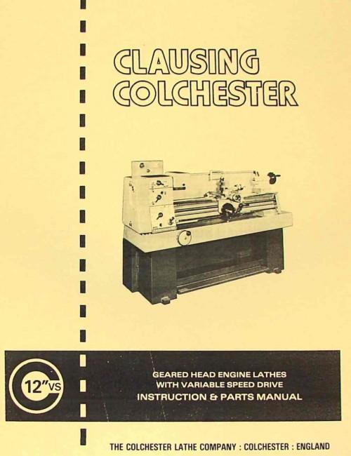 Colchester Triumph 2015 Parts Manual