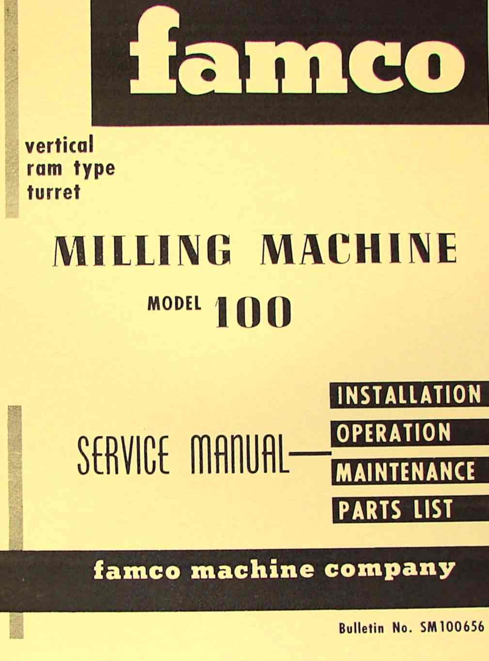 famco milling machine
