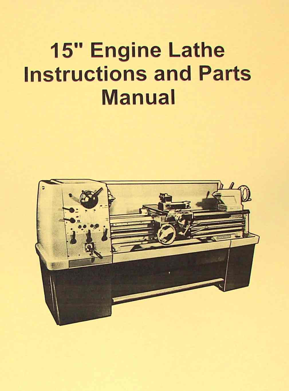 JETAsian 1550D 15 Metal Lathe Operators Parts Manual – Jet Lathe Wiring-diagram