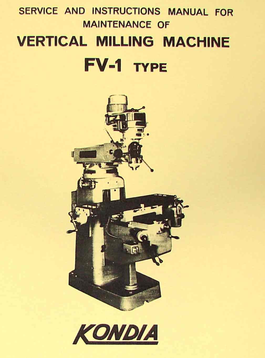 0423 kondia fv 1 milling machine operator's manual ozark tool manuals  at virtualis.co