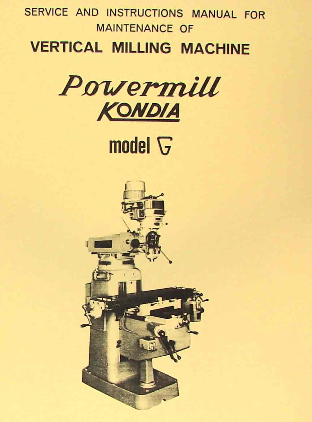 0425 kondia fv 1 milling machine operator's manual ozark tool manuals  at virtualis.co