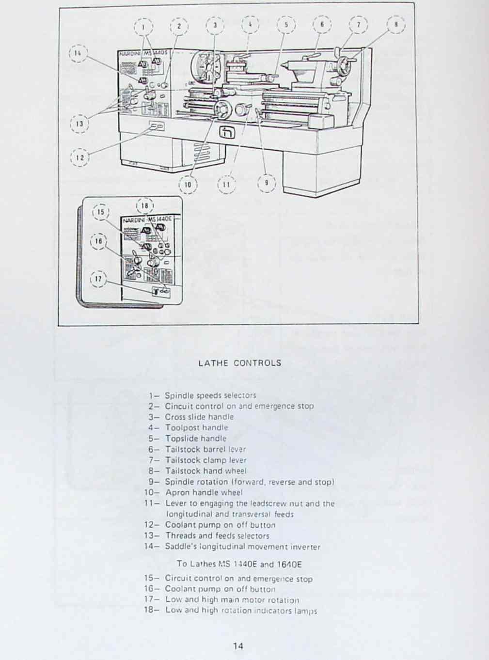 nardini ms 1440 1640 s e mascote lathe part manual ozark tool manuals books