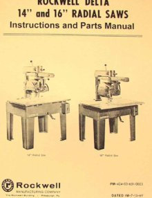 0594 220x286 rockwell model 10 & 12 radial arm saws owners instructions & parts  at n-0.co