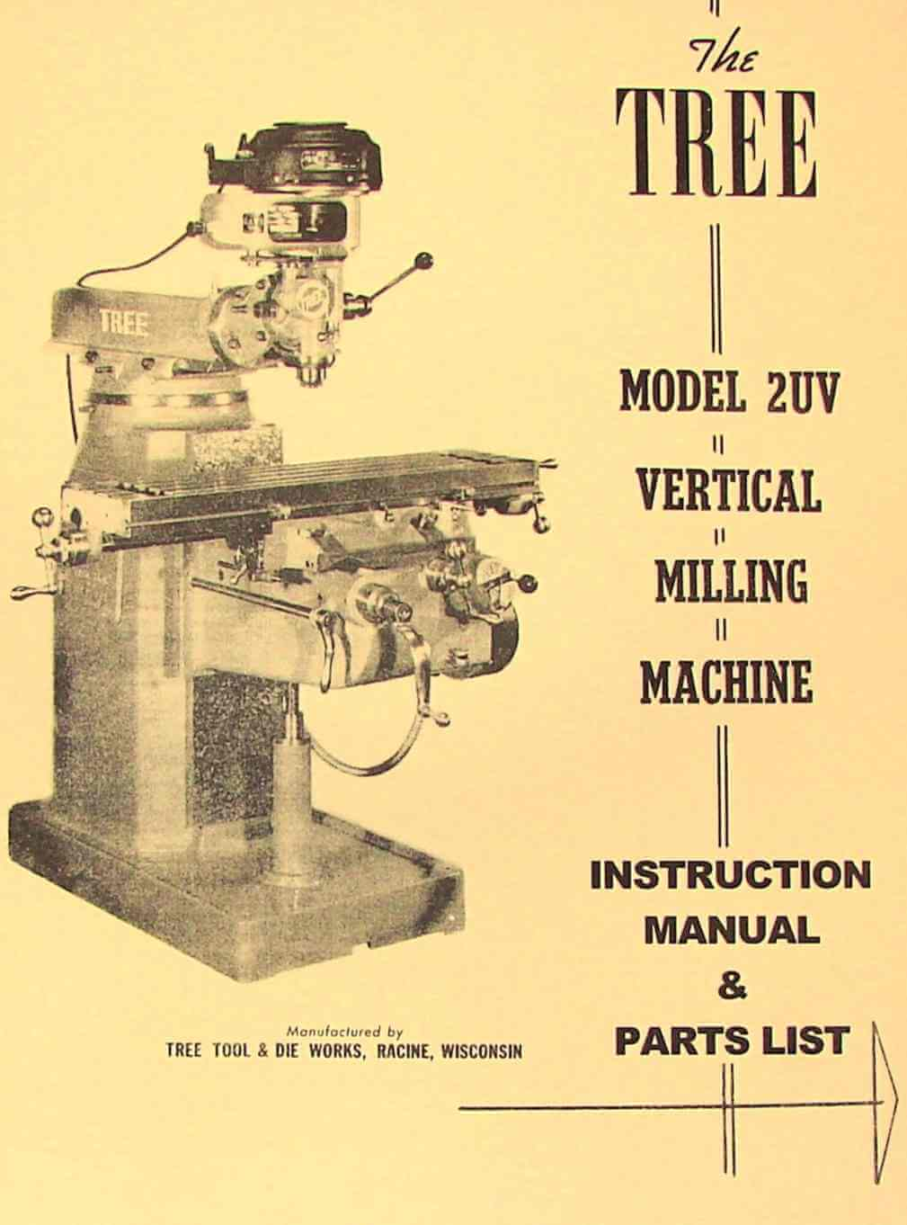 tree milling machine parts