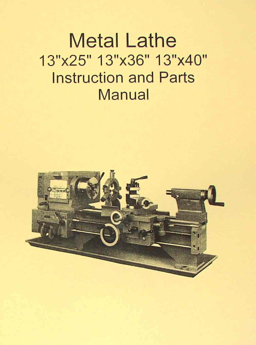 Metal Lathe 13x25 13x36 13x40 Manual JET Enco Grizzly – Jet Lathe Wiring-diagram