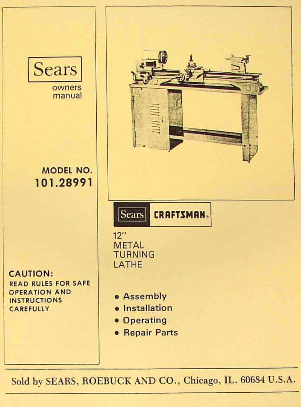 Craftsman Lathe Manual Pdf