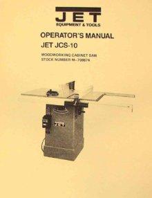 Jet Asian Jts 10 10 Quot Contractor Table Saw Operator S