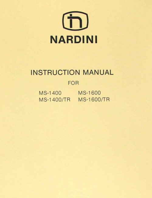NARDINI MS 1400 TR MS 1600 TR Metal Lathe Instructions     Parts Manual on nardini lathe wiring diagrams