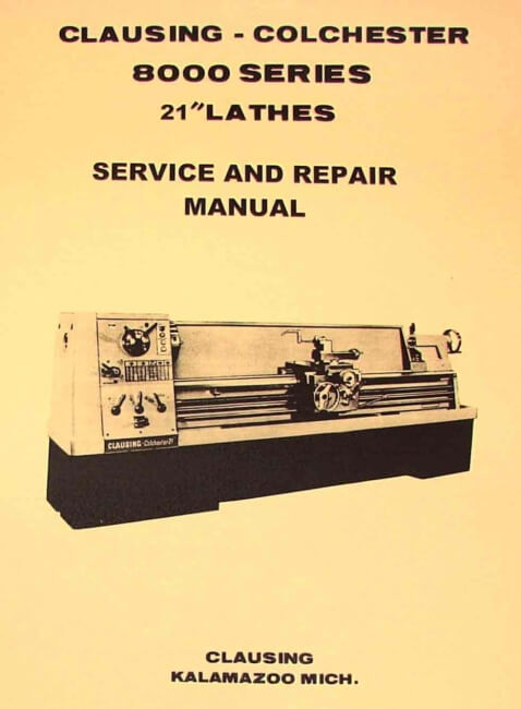 ... Metal Lathe SERVICE & REPAIR Manual | Ozark Tool Manuals & Books