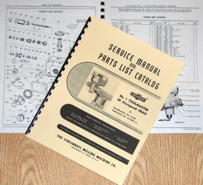 cincinnati milling machine manual
