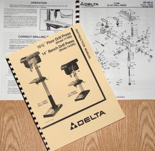 delta rockwell 17 900  14 040 16 5 quot  drill press operator s  amp  parts manual ozark tool manuals Vintage Delta Drill Press delta drill press 17-900 owners manual