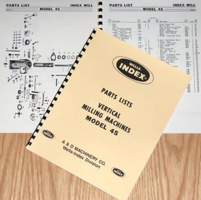 index milling machine parts