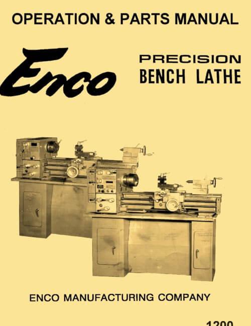 enco 12 quot x 36 quot metal lathe operating parts manual ozark tool manuals books