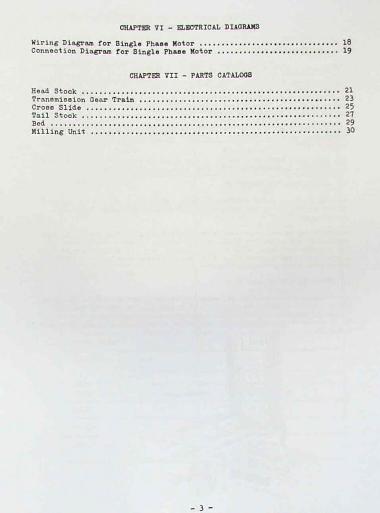 Metal Lathe  Mill 8 U0026quot X 18 U0026quot  Instruction  U0026 Parts Manual