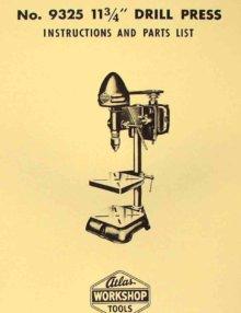 Atlas No 54 12 3 4 Quot Drill Press Instructions Amp Parts