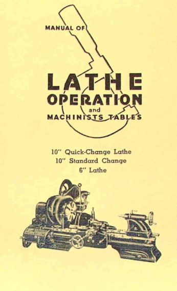 Atlas Craftsman Manual Of Lathe Operation Book For 10 U0026quot  And