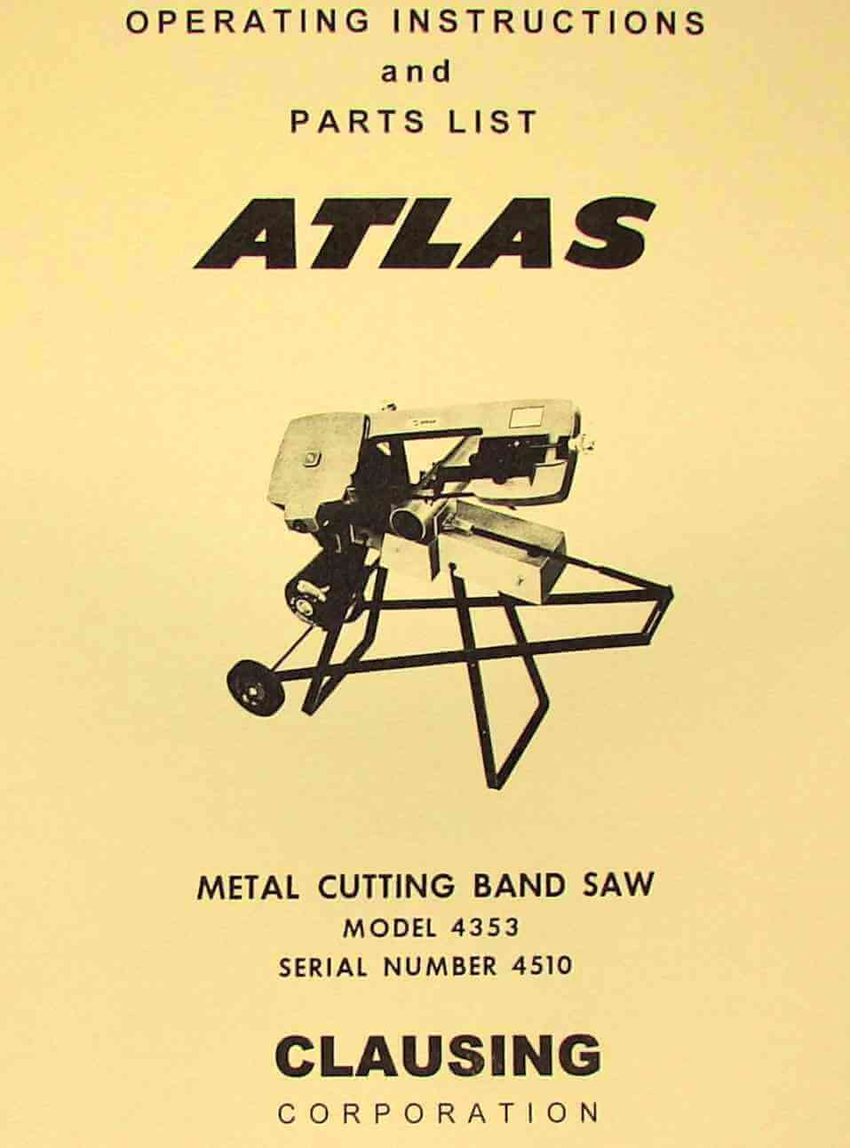 band saw operating instructions