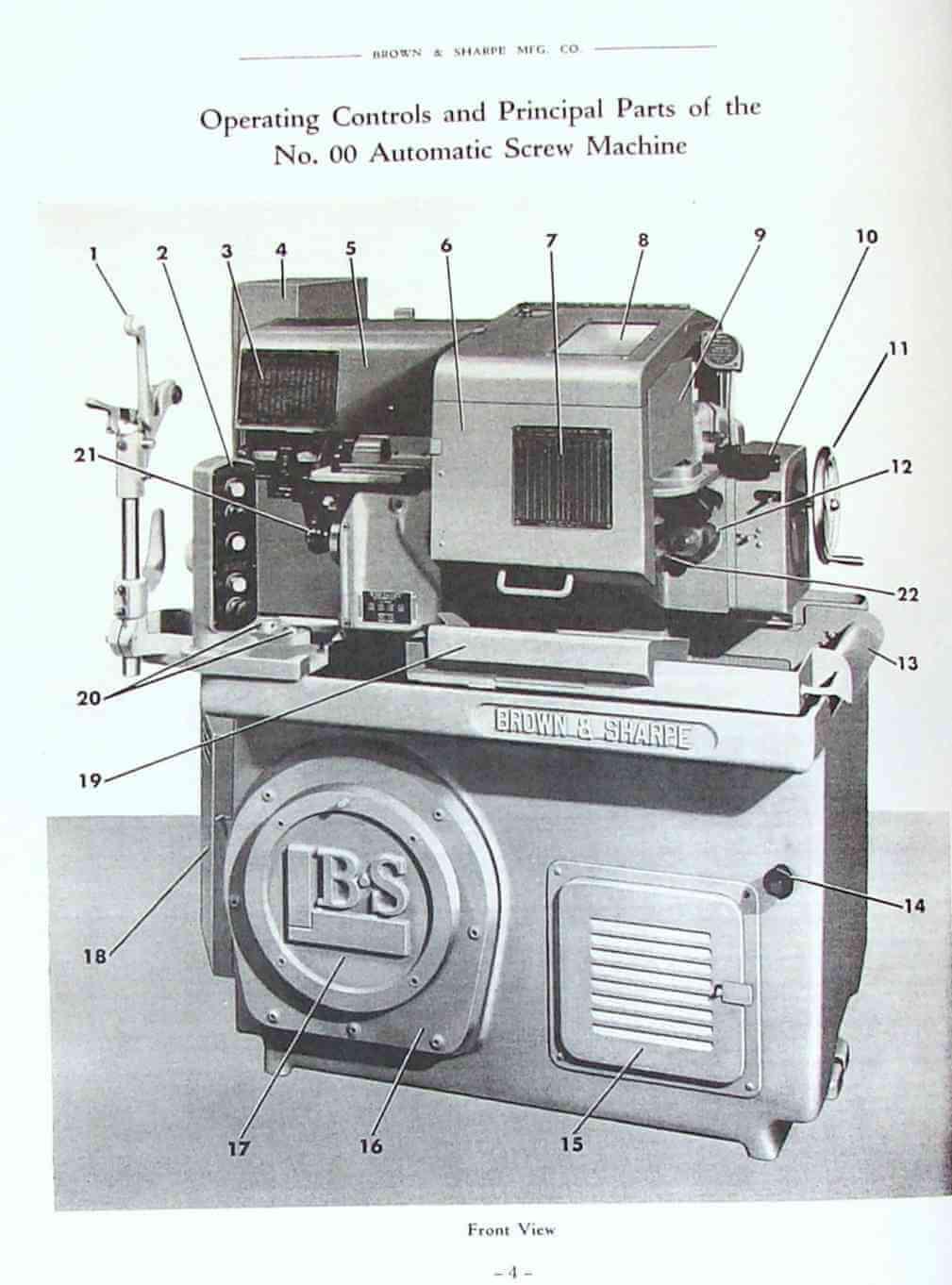 Brown sharpe automatic screw machine instructions
