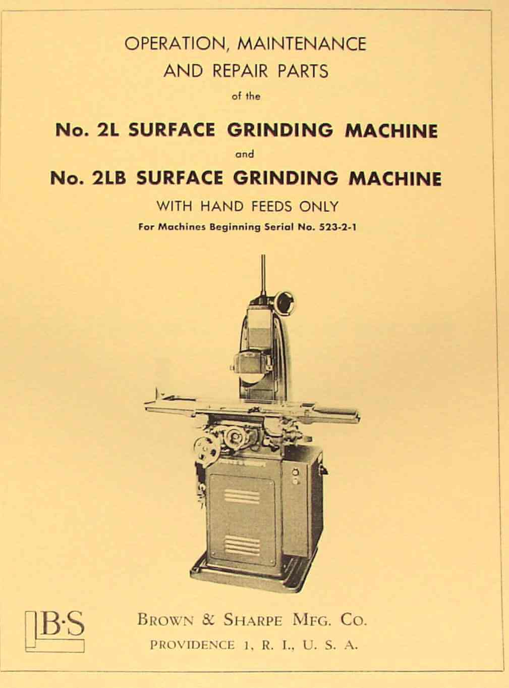 Surface Grinder Wiring Diagram 824 And Schematics For 2l 2lb Operator Parts Manual Ozark Tool Manuals Books