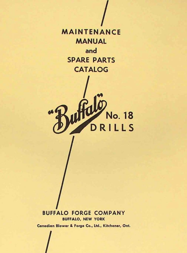 Buffalo No 18 Drill Press Instructions And Parts Manual Ozark