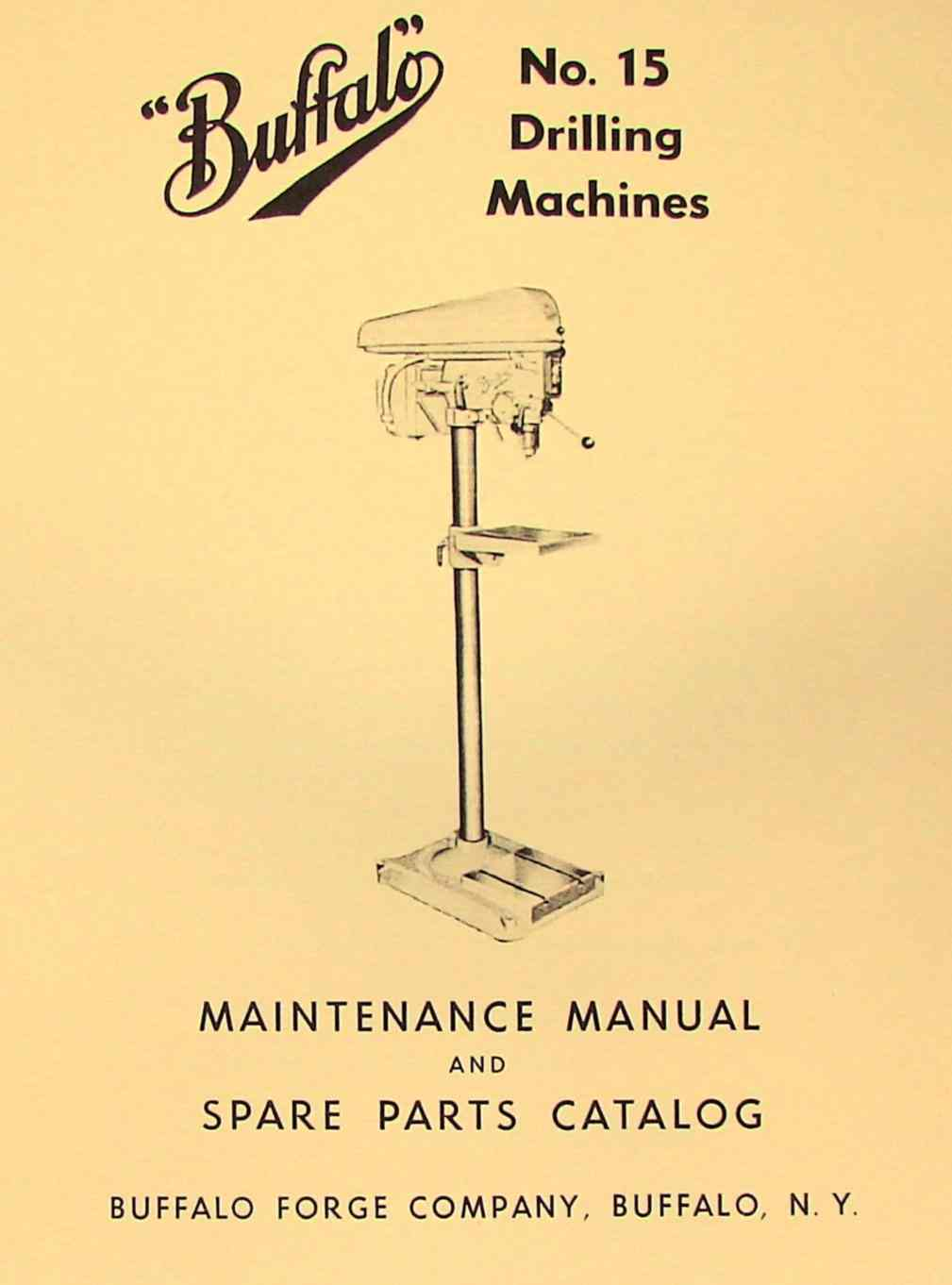 15 Drilling Machine Drill Press Instructions & Parts Manual | Ozark Tool  Manuals & Books