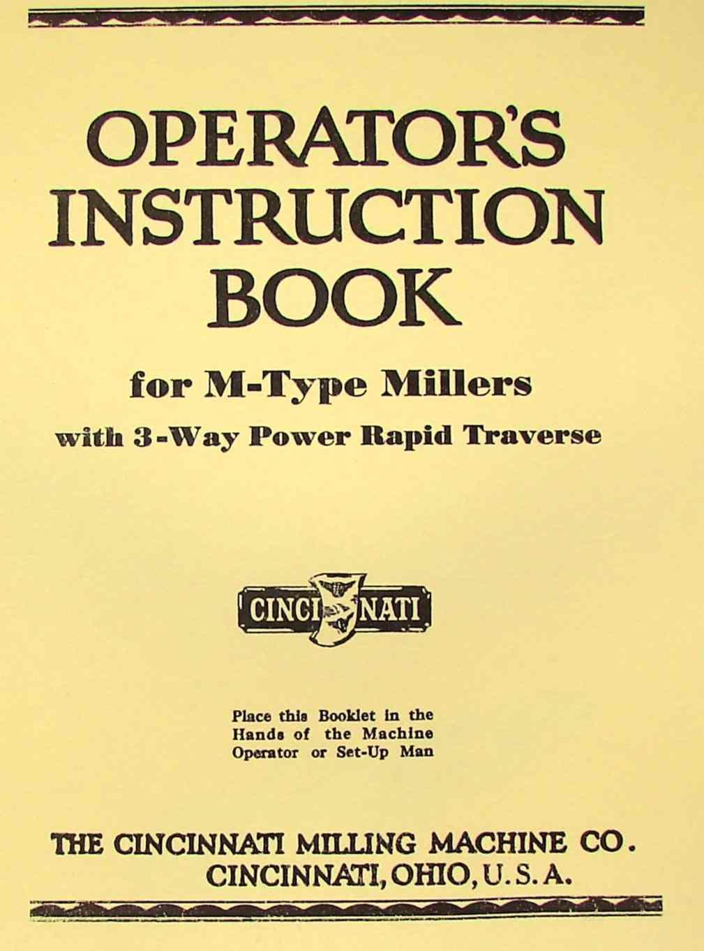types of milling machine pdf