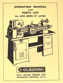 Clausing 1300 Lathe manual