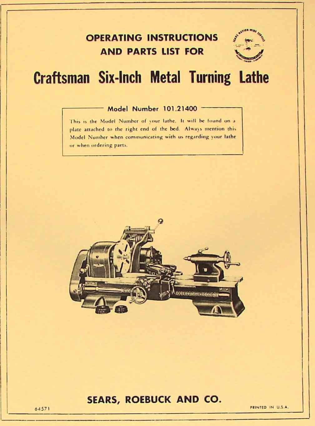 craftsman lathe manual pdf