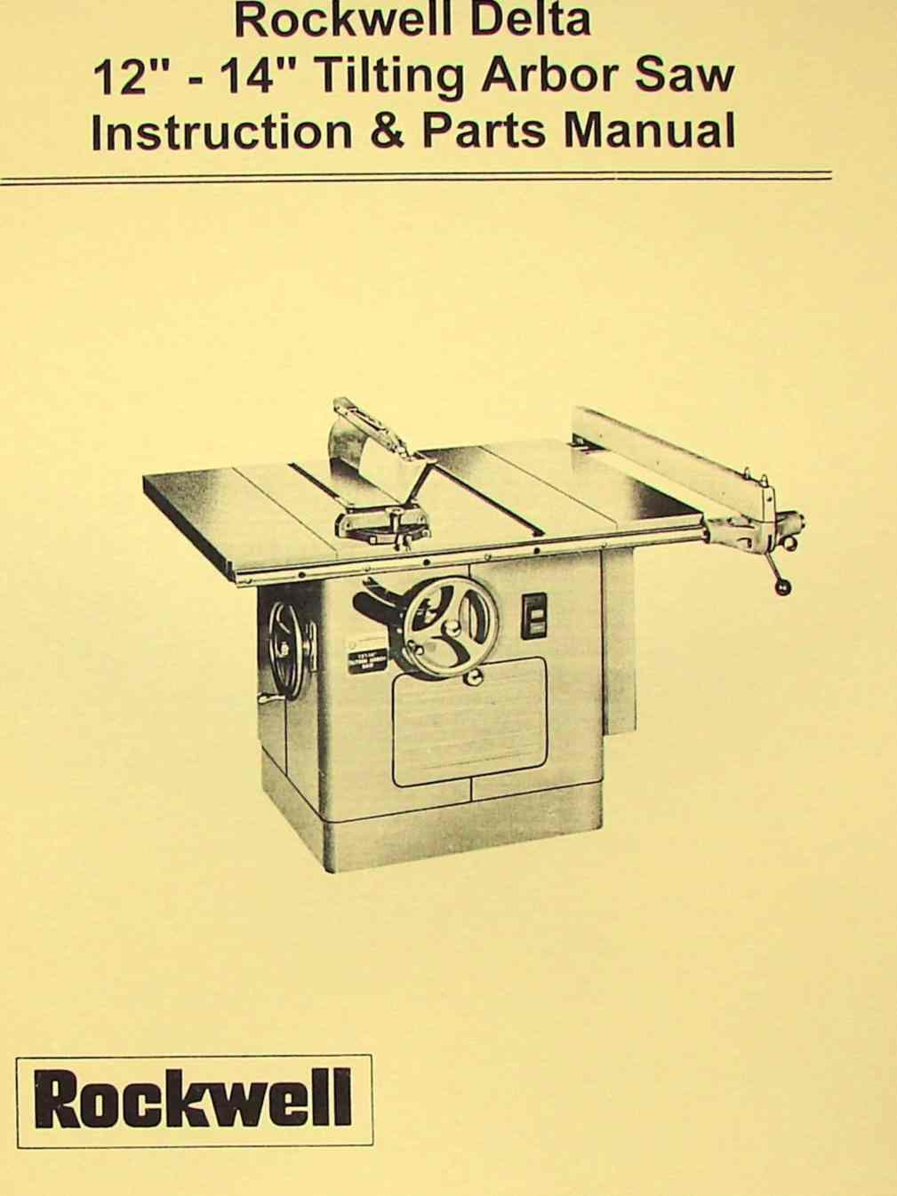 Delta rockwell 12 14 tilting arbor table saw operating parts delta rockwell 12 14 tilting arbor table saw operating parts manual ozark tool manuals books keyboard keysfo Gallery