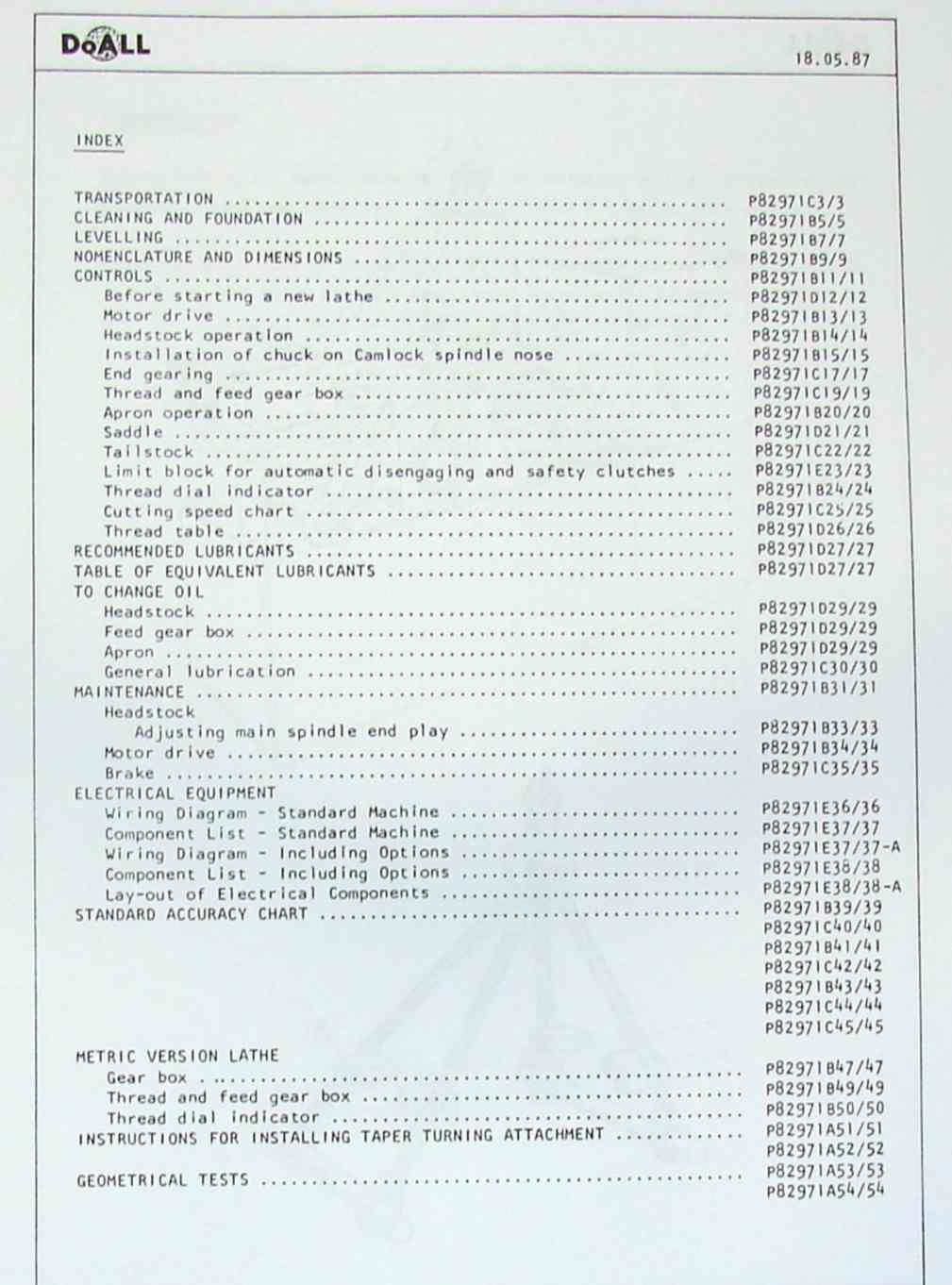 Doall 13 Lathe Wiring Schematic Library Pump