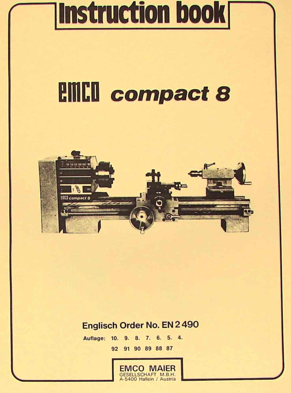 How To Wiring Books Electrical Diagram Basic Book Emco Compact 8 Metal Lathe Instructions Manual Ozark Diagrams