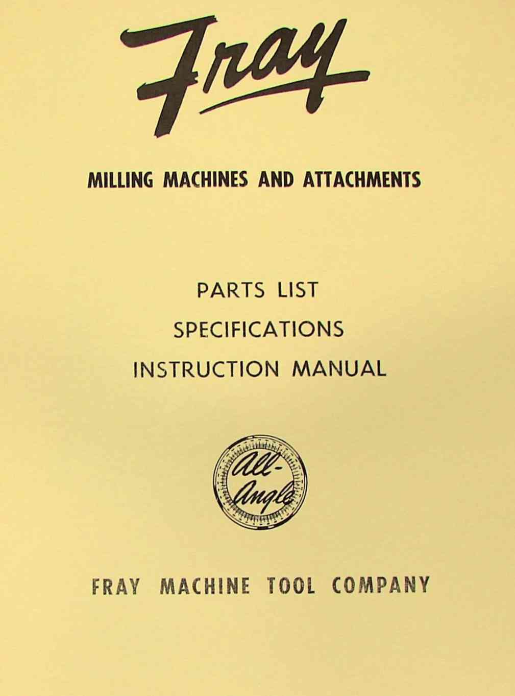 types of milling tools pdf