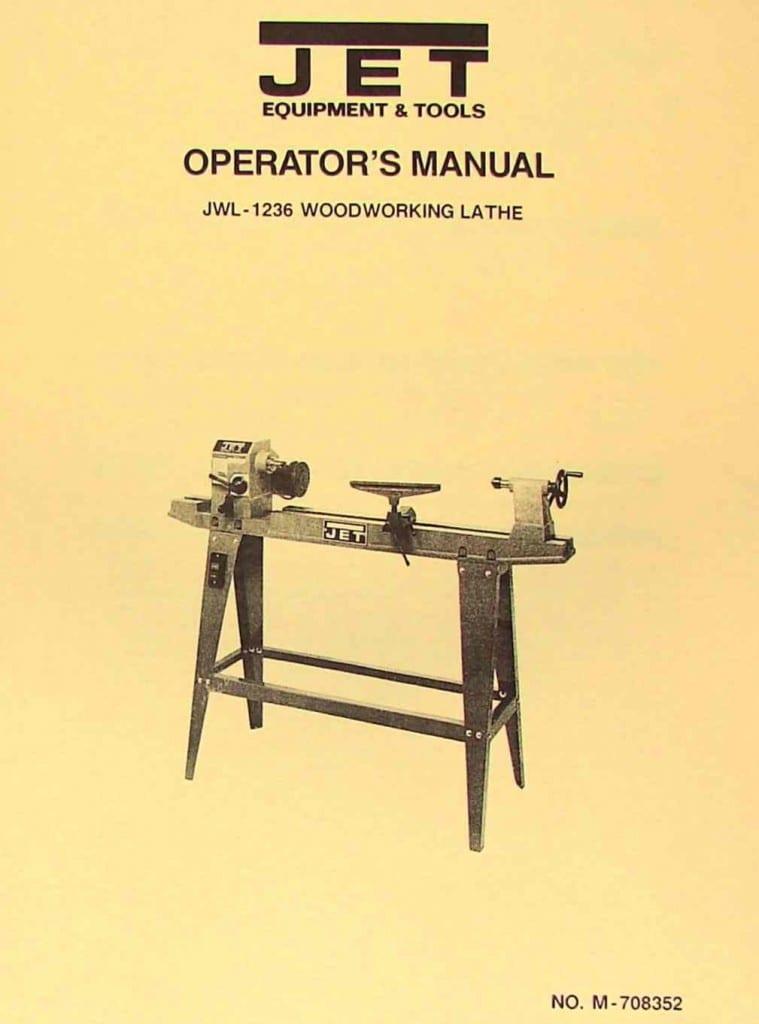 Jet Asian Jwl 1236 Wood Lathe Operator S Amp Parts Manual