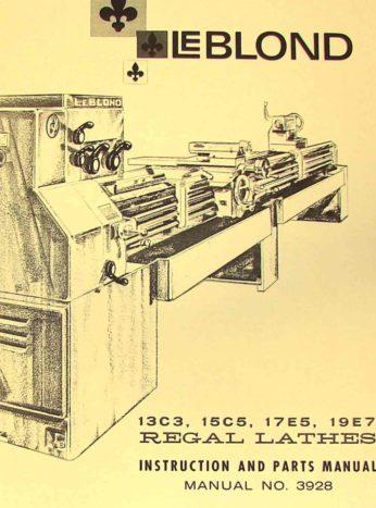 you're viewing: leblond 13c3, 15c5, 17e5, 19e7 lathe operator parts manual  $65 00