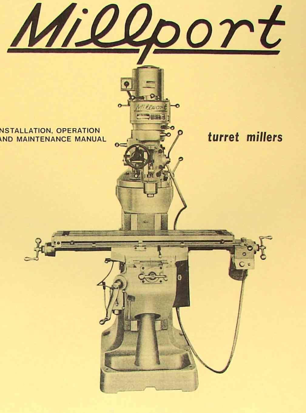 MILLPORT 2S Mill Parts Operator's Manual